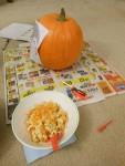 Prepping the pumpkin