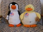 Ducky and Pembleton vote on election day.