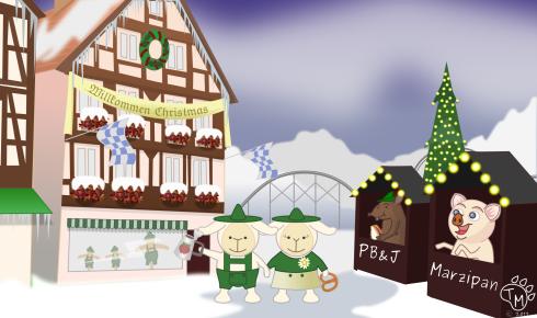 Gesegnete Weihnachten und ein glückliches neues Jahr! (A blessed Christmas and  a Happy New Year!)